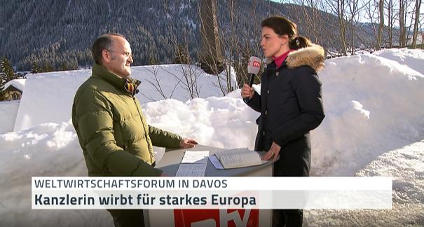 Klaus Schweinsberg WEF 2018 ntv Interview