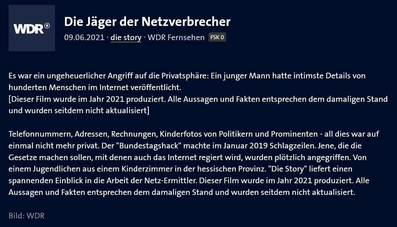 WDR Sendung